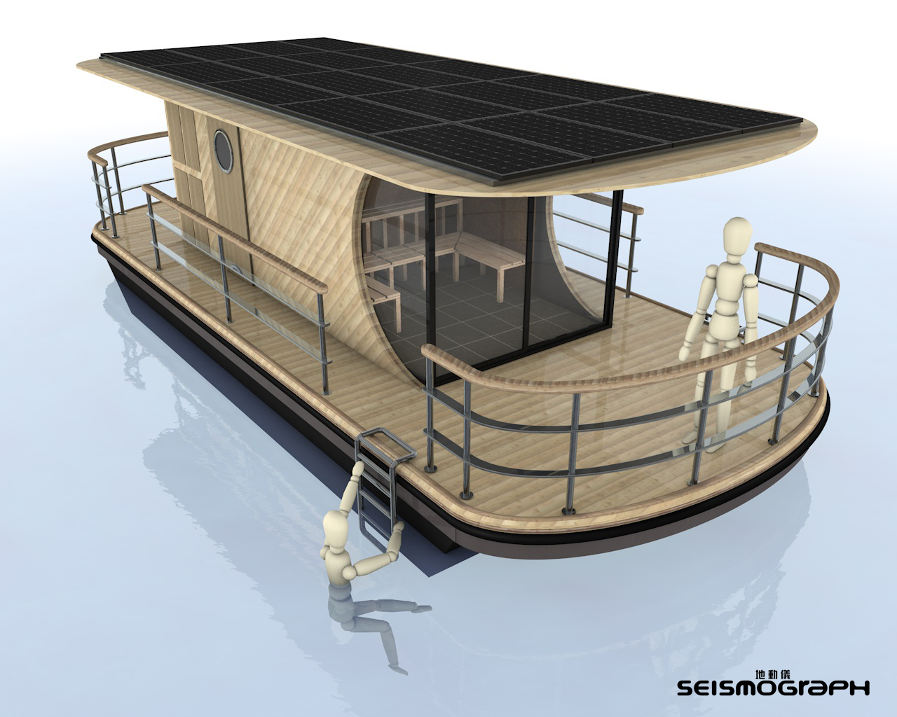 Solar Powered Floating Sauna