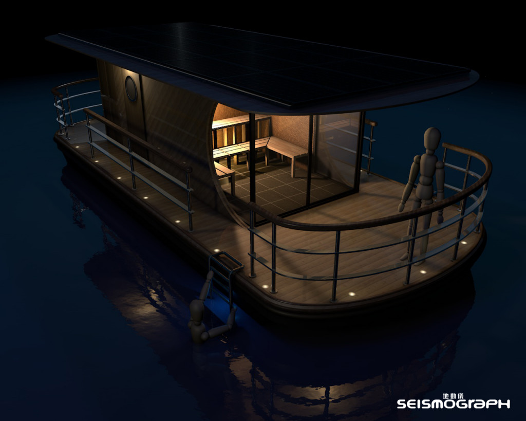 Solar Powered Floating Sauna
