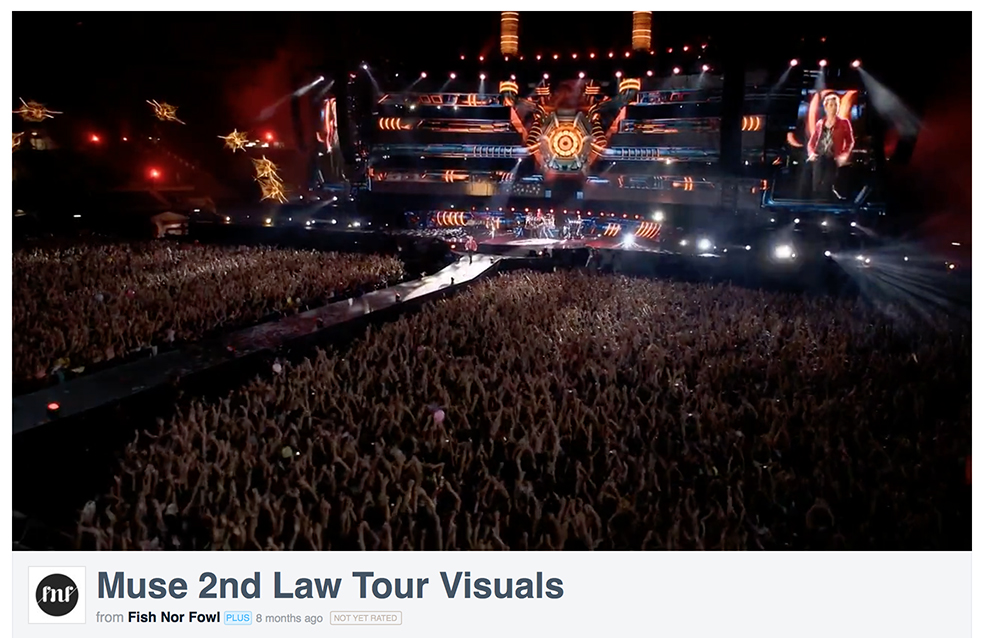 Muse Tour Visuals